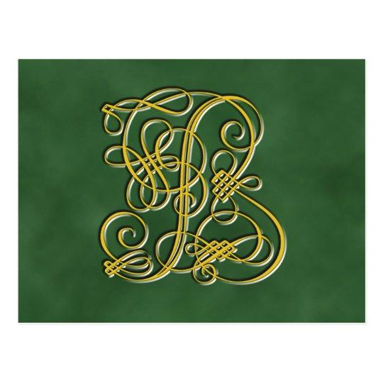 Fancy Royal Monogram Letter B Postcard