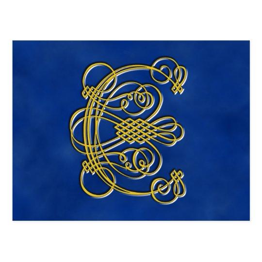 Fancy Royal Monogram Letter C Postcard