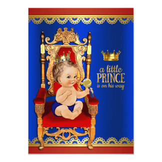 Fancy Royal Prince Baby Shower Card