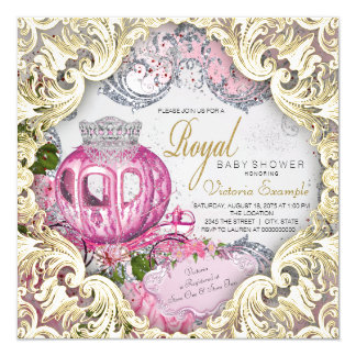 fancy baby girl shower invitations  announcements  zazzle, Baby shower invitations
