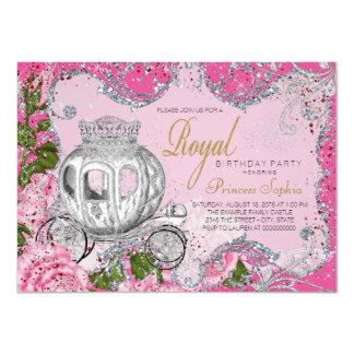 Fancy Royal Princess Birthday Party Card