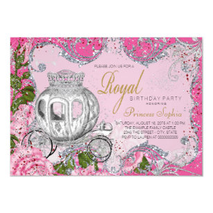 Fancy Royal Princess Birthday Party Invitation
