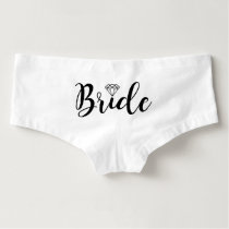 Fancy Script | Bride Boyshorts