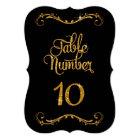 Fancy Script Glitter Table Number 10 Receptions