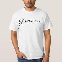 Fancy Script Groom T-Shirt