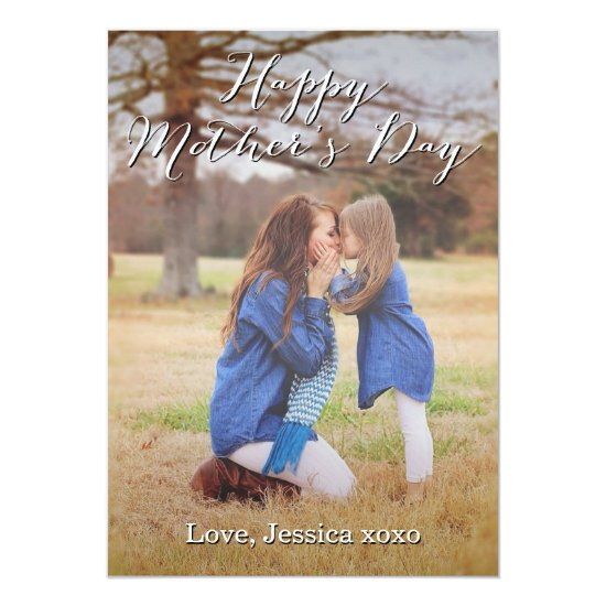 Fancy Script Happy Mother's Day Photo Card