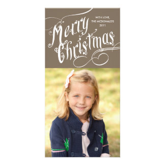 Fancy Script Merry Christmas Photo Cards