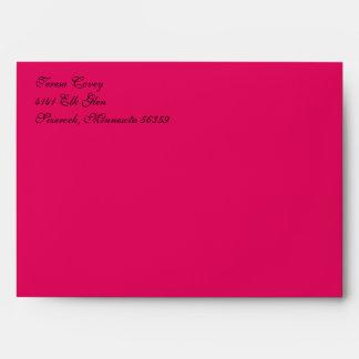 Fancy Script Raspberry A7 Return Address Envelopes