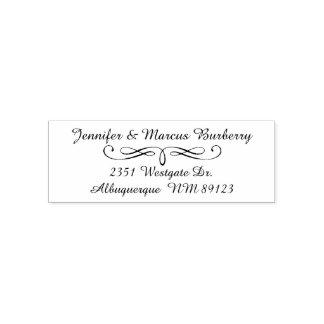 Fancy Script Return Address Self Inking Stamp