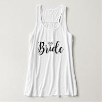 Fancy Script Typography   Bride Tank Top