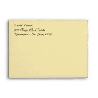 Fancy Script Vanilla A7 Return Address Envelopes