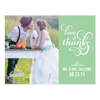 Fancy Script Wedding Thank You Postcard | Mint
