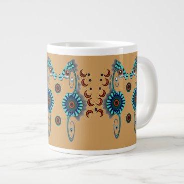 Coffee Themed Fancy Seahorses Giant Coffee Mug