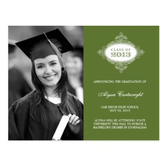 Fancy Seal Graduation Announcement /Invite Post Cards