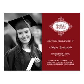 Fancy Seal Graduation Announcement /Invite Postcard