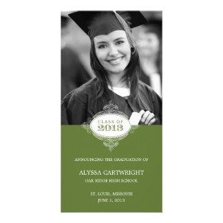 Fancy Seal Graduation Announcement Personalized Photo Card