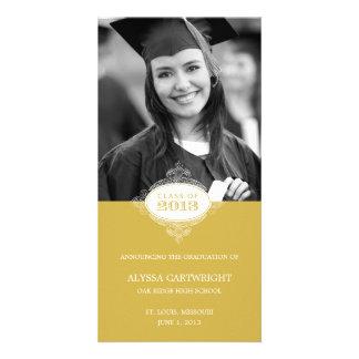 Fancy Seal Graduation Announcement Customized Photo Card