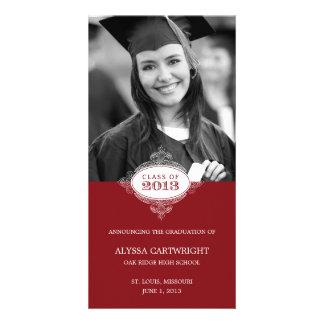 Fancy Seal Graduation Announcement Picture Card