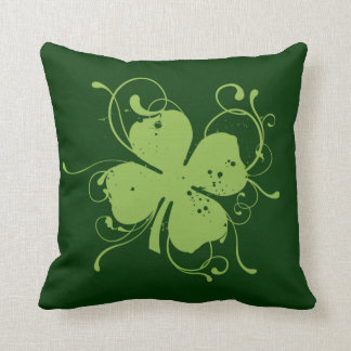 Fancy Shamrock Throw Pillow