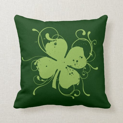 Fancy Decorative Pillows For Couch : Fancy Shamrock Throw Pillow Zazzle