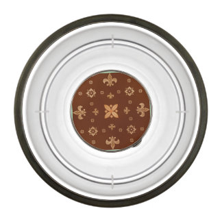 Fancy Shapes on Brown Pet Bowl