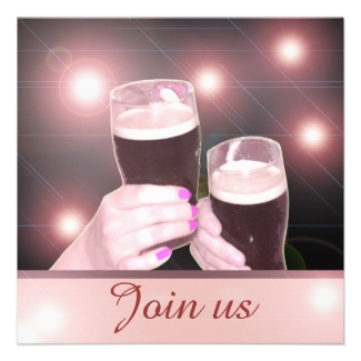 Fancy Shiny Pink Bachelorette Party Invitations