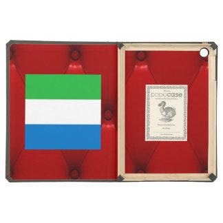 Fancy Sierra Leone Flag on red velvet background iPad Air Case