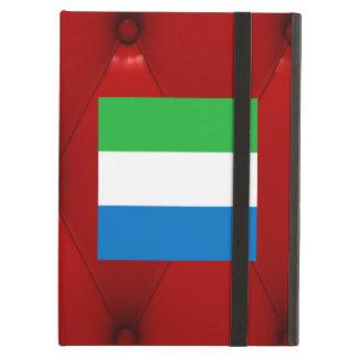 Fancy Sierra Leone Flag on red velvet background Cover For iPad Air