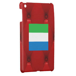 Fancy Sierra Leone Flag on red velvet background Cover For The iPad Mini