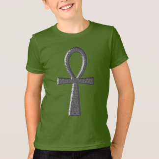 Fancy Silver Ankh Kids' T-Shirt