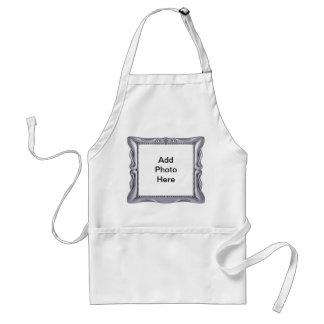Fancy Silver Frame Add Photo Here Adult Apron