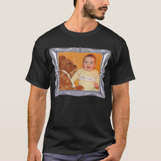 Fancy Silver Frame Add Photo Here T-Shirt