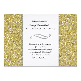 Fancy Silver Gold Glitter Look Event Invitation