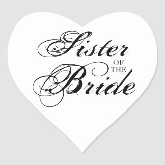 Fancy Sister of the Bride Black Stickers