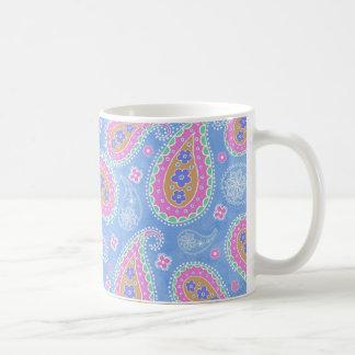 fancy sky Blue Paisley design Coffee Mug