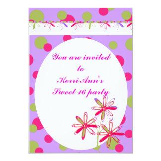Fancy Smancy Sweet 16 invitations