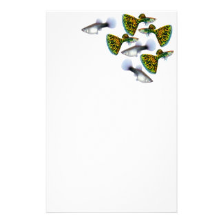 Fancy Snakeskin Guppies Stationery