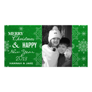 Fancy Snowflake Christmas & New Years Photo Cards