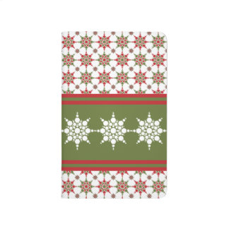 Fancy Snowflake Design Winter Christmas Holidays Journal
