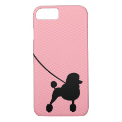 Fancy Standard Poodle Silhouette iPhone 8/7 Case