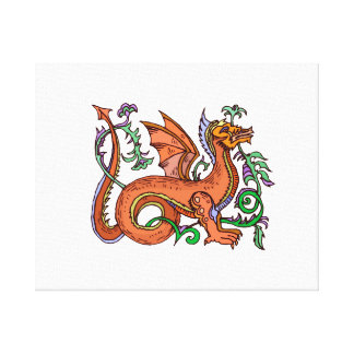 Fancy style dragon.png stretched canvas print