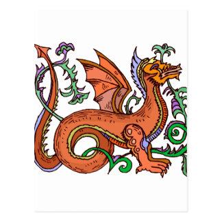 Fancy style dragon.png postcard