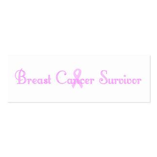 Fancy Survivor Bookmark Mini Business Card