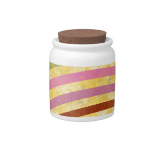 fancy swirl colorful design to brighten the day candy jar