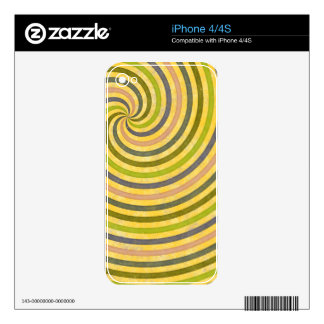 fancy swirl colorful design to brighten the day decals for iPhone 4