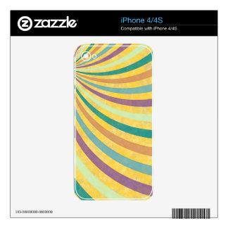 fancy swirl colorful design to brighten the day decals for iPhone 4S