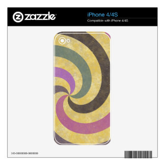 fancy swirl colorful design to brighten the day decals for the iPhone 4