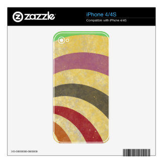 fancy swirl colorful design to brighten the day decals for the iPhone 4S