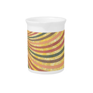 fancy swirl colorful design to brighten the day drink pitcher