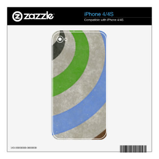 fancy swirl colorful design to brighten the day iPhone 4 decals